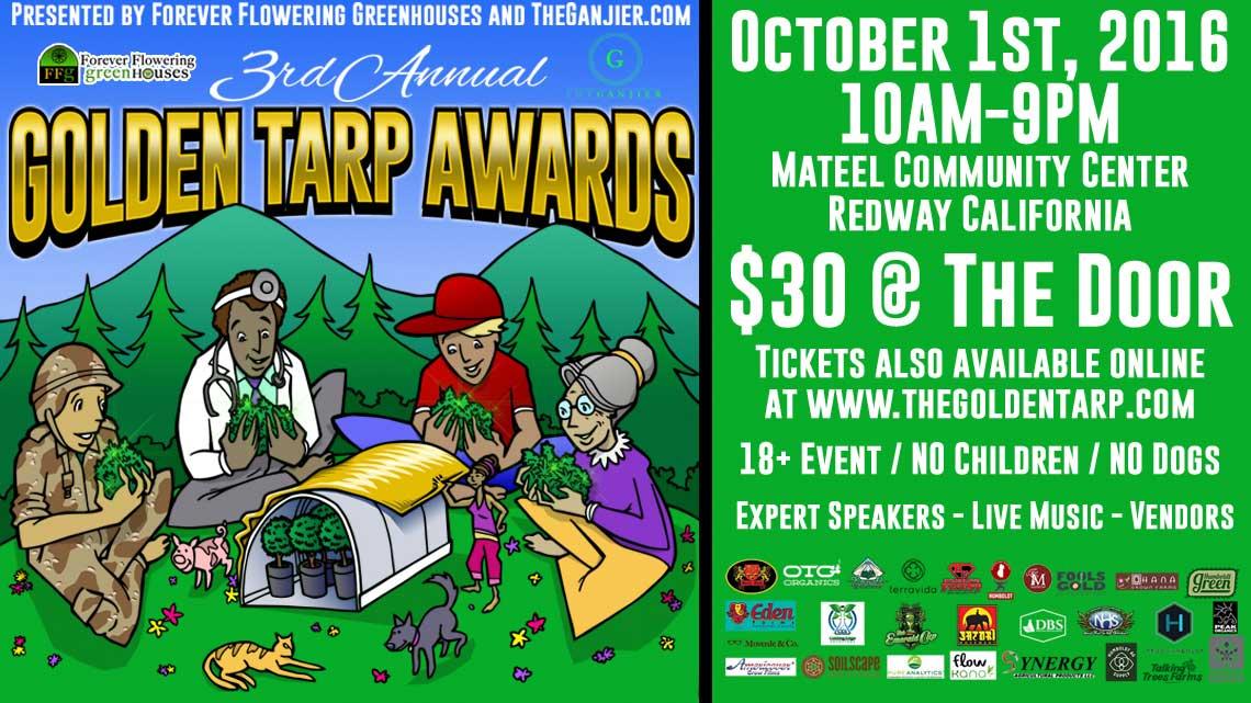 Oct. 1st: Golden Tarp Awards