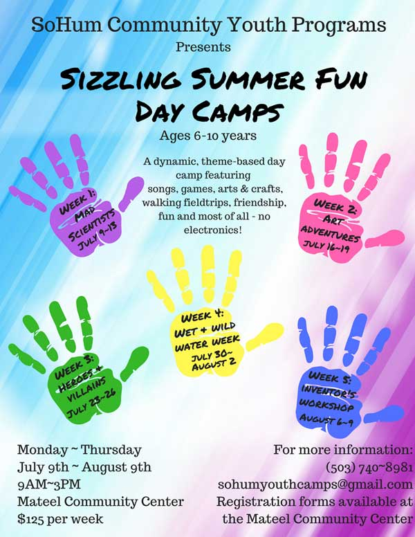 Sizzling Summer Fun Days Camps