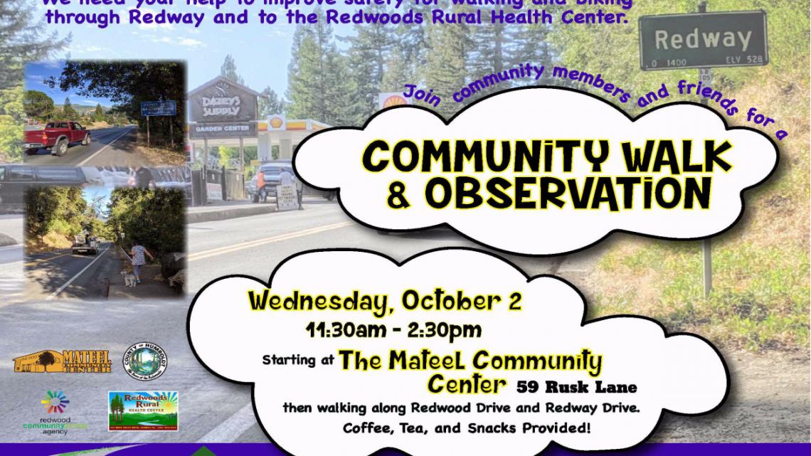 Community Walk & Observation  October 2nd
