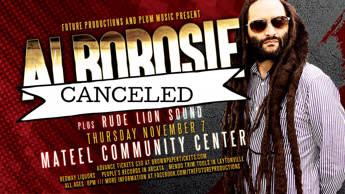 Future Productions & Plum Music present: Alborosie and the Shengen Clan November 7th CANCELED