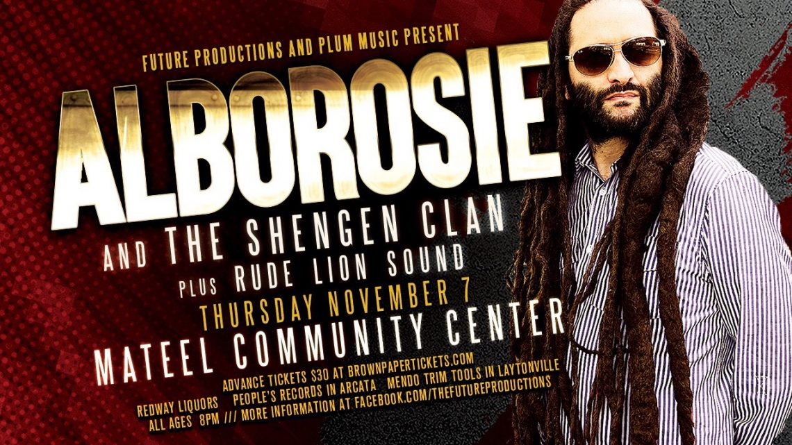 Future Productions & Plum Music present: Alborosie and the Shengen Clan November 7th