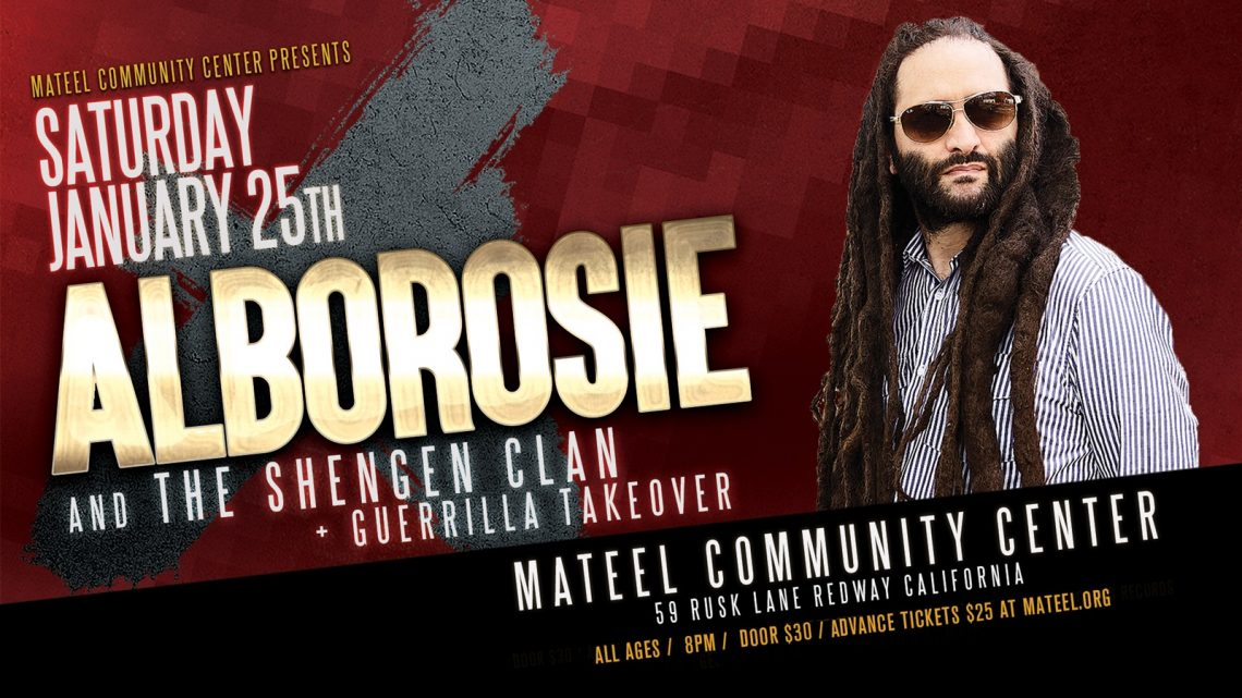 Alborosie & the Shengen Clan January 25th