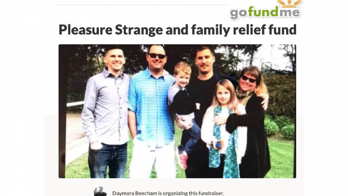Support Pleasure Strange & Family-Go Fund Me Fundraiser
