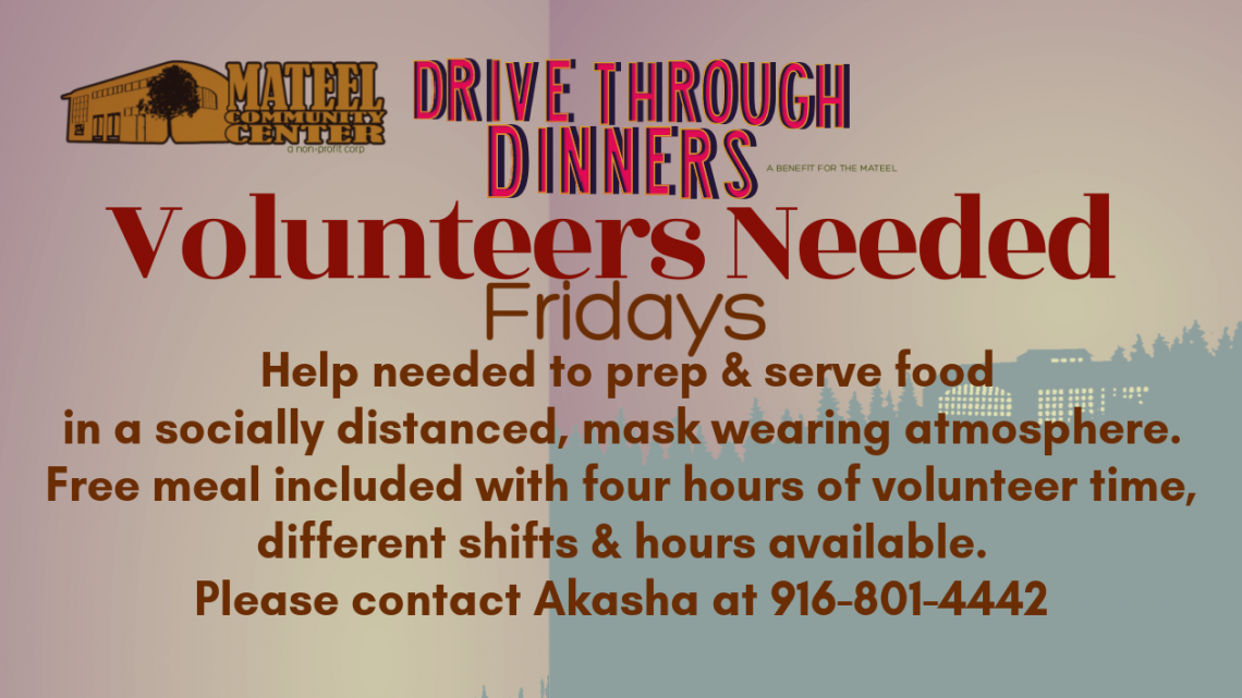Volunteers Needed Fridays at the Mateel