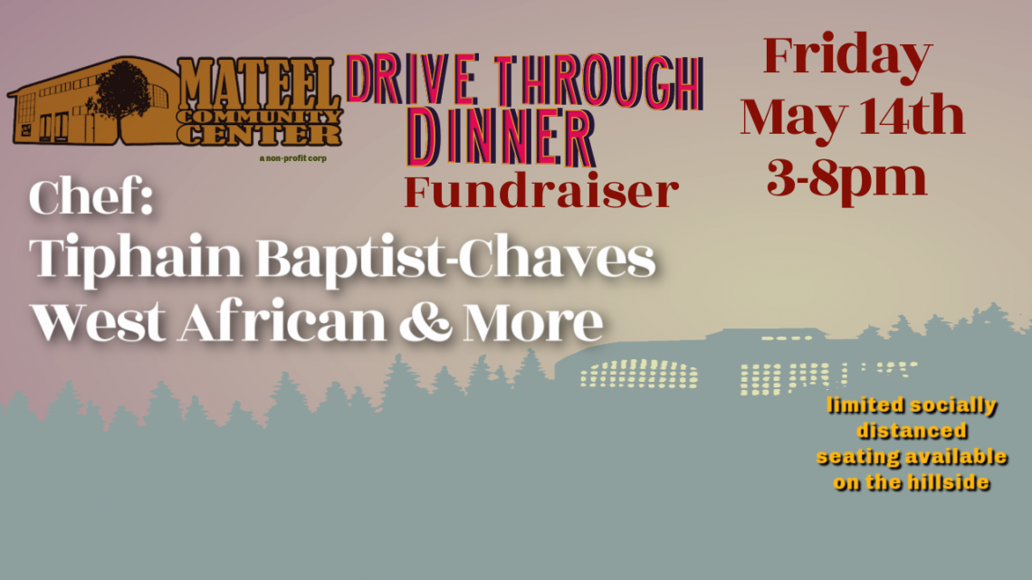 Drive Through Dinner Fundraiser May 14th: West African & More with Tiphain Baptist Chaves