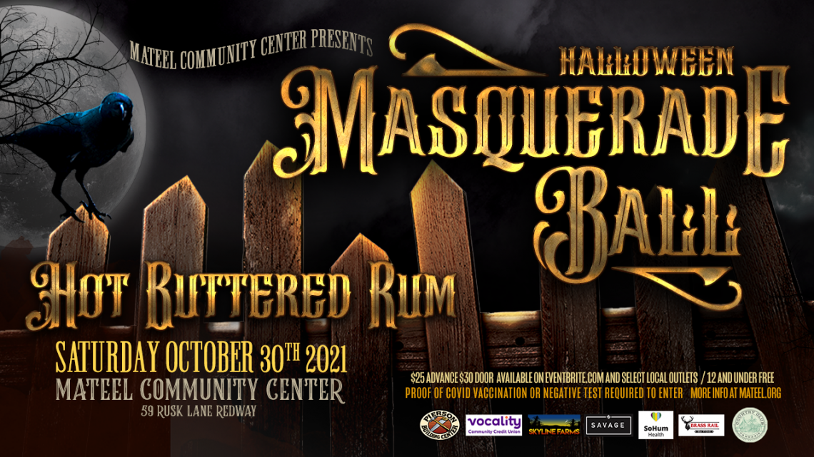 Halloween Masquerade Ball with Hot Buttered Rum, Twango  Saturday, October 30, 2021
