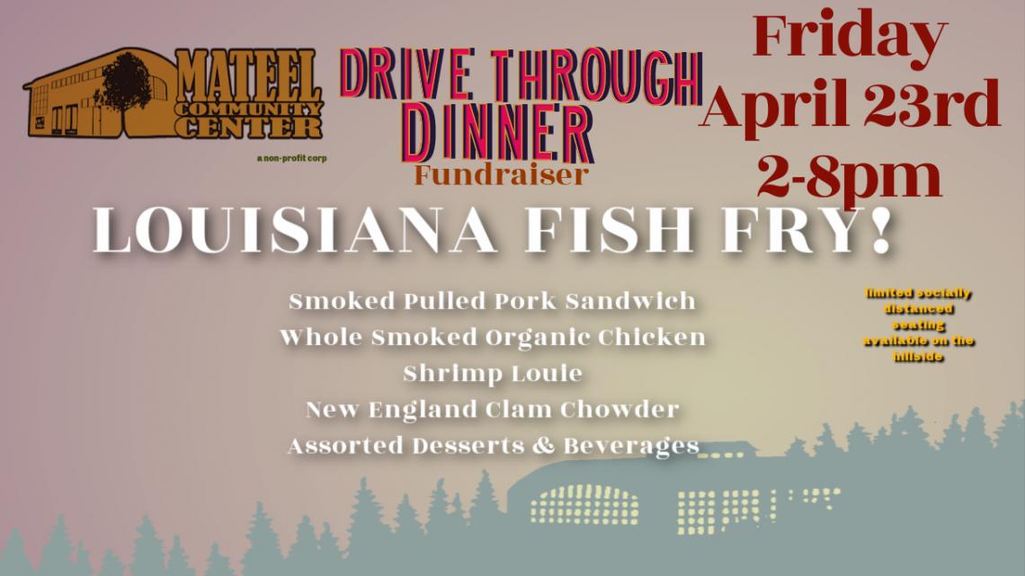 Drive Through Dinner Fundraiser April 23rd: Louisiana Fish Fry