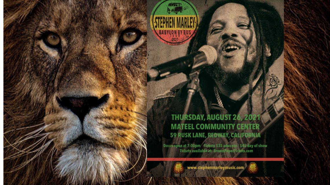 Indigo Children Project Presents: Stephen Marley August 26, 2021 Babylon by Bus Tour